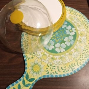 Vintage Dome Cheese Tray & Cutting Board